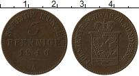 Продать Монеты Шварцбург-Зондерхаузен 3 пфеннига 1870 Медь