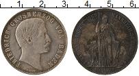 Продать Монеты Баден 1 гульден 1863 Серебро