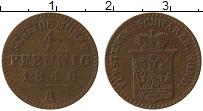 Продать Монеты Шварцбург-Зондерхаузен 1 пфенниг 1846 Медь