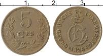 Изображение Монеты Люксембург 5 сантим 1924 Медно-никель XF