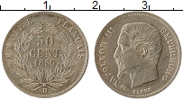 Изображение Монеты Европа Франция 50 центов 1856 Серебро XF