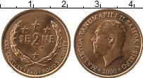 Изображение Монеты Самоа 2 сене 2000 Бронза UNC- Малетоа Танумафили I