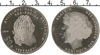 Изображение Монеты Нидерланды 50 гульденов 1989 Серебро UNC- 300-летие начала пра