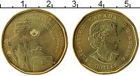 Изображение Мелочь Канада 1 доллар 2016 Латунь UNC 100 лет женскому изб