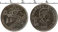 Изображение Монеты Канада 25 центов 2007 Медно-никель UNC- Елизавета II Олимпиа