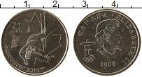 Изображение Монеты Канада 25 центов 2008 Медно-никель UNC- Елизавета II Олимпиа