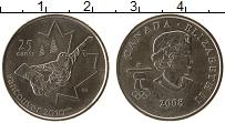 Изображение Монеты Канада 25 центов 2008 Медно-никель UNC-