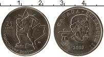 Изображение Монеты Канада 25 центов 2009 Медно-никель UNC- Елизавета II Олимпиа