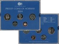 Изображение Подарочные монеты Норвегия Набор 2004 года 2004  Proof В набор входят четыр