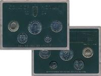 Изображение Подарочные монеты Норвегия Набор монет 1984 года 1984  UNC
