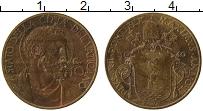 Изображение Монеты Ватикан 10 сентесим 1940 Латунь XF Пий XII