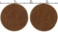 Продать Монеты Росток 1 пфенниг 1824 Медь