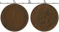 Изображение Монеты Нидерланды 1 цент 1905 Медь VF Герб