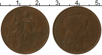 Изображение Монеты Франция 5 сантим 1907 Медь VF