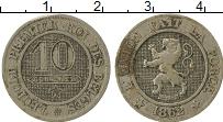 Изображение Монеты Бельгия 10 сантим 1862 Медно-никель VF Леопольд