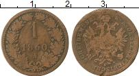 Изображение Монеты Австрия 1 крейцер 1860 Медь VF А