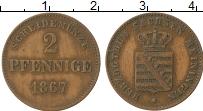 Продать Монеты Саксе-Мейнинген 2 пфеннига 1870 Медь