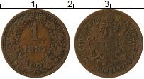 Изображение Монеты Австрия 1 крейцер 1881 Медь XF-