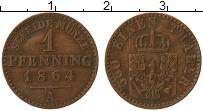 Изображение Монеты Пруссия 1 пфенниг 1864 Медь VF