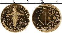 Изображение Монеты Италия 20 евро 2004 Золото Proof Чемпионат Мира по фу