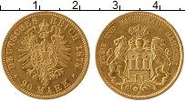 Изображение Монеты Германия Гамбург 20 марок 1878 Золото XF