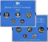 Изображение Подарочные монеты Норвегия Набор 2007 года 2007  Proof