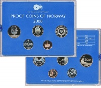 Изображение Подарочные монеты Норвегия Набор 2008 года 2008  Proof