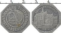 Изображение Монеты Германия : Нотгельды 20 пфеннигов 1920 Алюминий XF Нюрнберг, трамвай