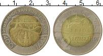 Изображение Монеты Нидерланды 2 лиден 2006 Биметалл UNC- 400 лет со дня рожде