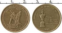 Изображение Монеты Шри-Ланка 5 рупий 1999 Латунь XF