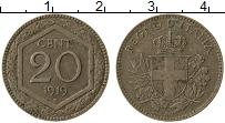 Изображение Монеты Италия 20 сентесимо 1919 Медно-никель XF