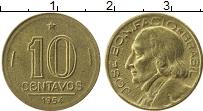 Изображение Монеты Бразилия 10 сентаво 1954 Латунь XF Жосе Бонифацио