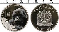 Изображение Мелочь Танзания 100 шиллингов 2016 Посеребрение Proof Фонд охраны дикой пр