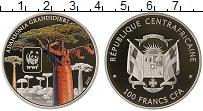 Изображение Мелочь Африка Центральноафриканская Республика 100 франков 2015 Посеребрение Proof