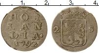 Продать Монеты Голландия 2 стивера 1791 Серебро
