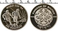 Изображение Монеты Бутан 300 нгултрум 1992 Серебро Proof- Чемпионат Мира по фу