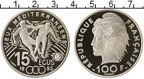 Изображение Монеты Франция 100 франков 1993 Серебро Proof- Чемпионат Мира по фу