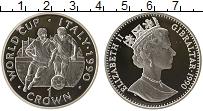Изображение Монеты Гибралтар 1 крона 1990 Серебро Proof- Чемпионат Мира по фу