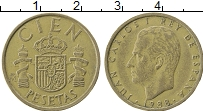 Изображение Монеты Испания 100 песет 1988 Латунь XF Хуан Карлос I