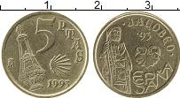 Изображение Монеты Испания 5 песет 1993 Медно-никель XF