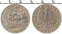 Изображение Монеты Польша 5 злотых 1936 Серебро VF 15-летие морского по
