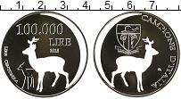 Изображение Монеты Италия 100000 лир 2018 Посеребрение UNC