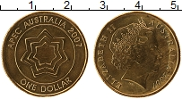 Изображение Монеты Австралия 1 доллар 2007 Латунь XF Елизавета II, АПЕК