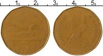 Изображение Монеты Канада 1 доллар 1987 Латунь XF Елизавета II