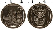 Изображение Мелочь ЮАР 2 ранда 2019 Медно-никель UNC 25 лет Демократии, Э