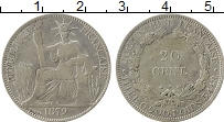 Изображение Монеты Азия Вьетнам 20 сентам 1879 Серебро VF