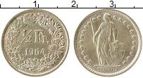 Изображение Монеты Швейцария 1/2 франка 1964 Серебро UNC-