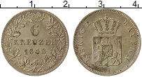 Изображение Монеты Бавария 6 крейцеров 1848 Серебро XF