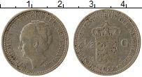 Изображение Монеты Нидерланды 1/2 гульдена 1922 Серебро VF