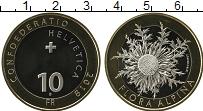 Изображение Монеты Швейцария 10 франков 2018 Биметалл UNC Флора Альп